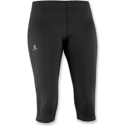 Fitness The Salomon Trail 3/4-length tights lend exceptional comfort whether your plans include running at the gym or on the trail. - $14.83