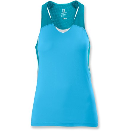 Fitness Perfect for hot weather, the Salomon Runner tank top offers motivational comfort. - $9.83