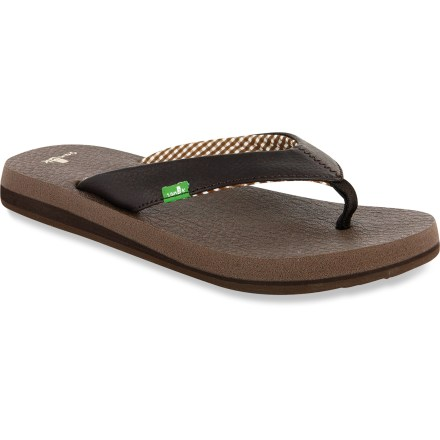 Entertainment You won't need a fancy pose to figure out that the Sanuk Yoga Mat flip-flops are delightfully comfortable and a must-have summer essential. - $32.00