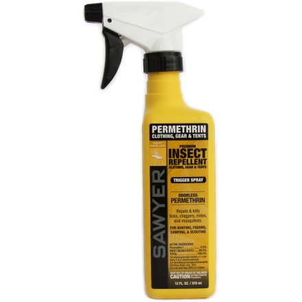 Camp and Hike Insect killer and repellent for your clothing is effective against ticks, chiggers, mites and mosquitoes for up to six  weeks. - $13.00