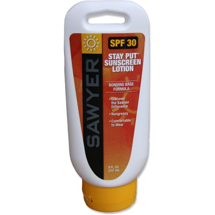 Camp and Hike Sawyer Stay-Put(R) System 1 SPF 30 sunscreen offers sweat-resistant protection for your active adventures. - $12.00