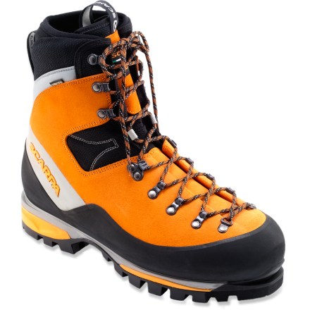 Camp and Hike With superb all-around mountain performance, the Scarpa Mont Blanc GTX mountaineering boots are lightweight and responsive for great feel yet sturdy and tough enough for harsh environs. - $233.83