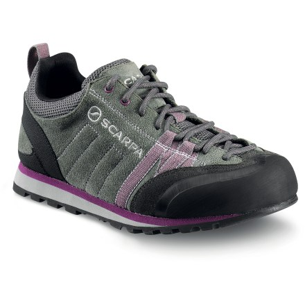 Climbing Lace up the women's Scarpa Crux approach shoes and make the hike to the day's objective. Doing a moderate climb? Don't bother switching into rock shoes. The Crux handle scrambling and light climbing. - $54.93