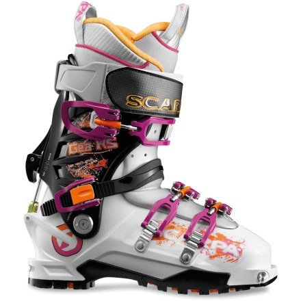 Ski The downhill-oriented Scarpa Gea RS randonee boots are designed for hard-charging female backcountry skiers. The RS boots are 20% stiffer and only a touch heavier than the original Gea boots. - $348.93