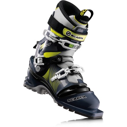 Ski Drop a knee down steep terrain with the iconic Scarpa T2 Eco telemark boots. Triple-density shells and comfortable Intuition liners give you the support you need for long backcountry tours. - $358.83