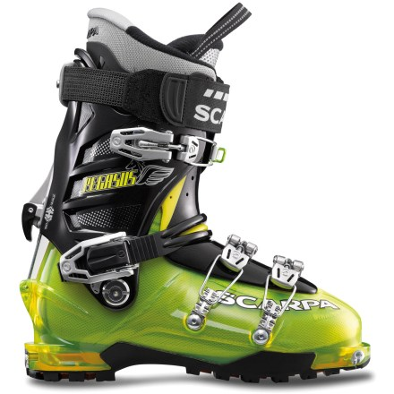 Ski Fly down backcountry runs and tour back up for more with the Scarpa Pegasus randonee boots. They are designed for excellent performance on both the dowhill and uphill sections of your tour. - $198.93