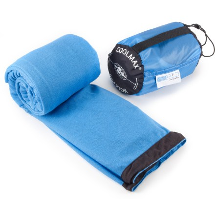 Camp and Hike This Sea to Summit CoolMax(R) Adapter mummy bag liner is specifically designed for use in warm or humid conditions. Its moisture management fabric adapts to a variety of temperatures and humidity. - $47.95