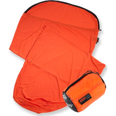 Camp and Hike This Sea to Summit Reactor Extreme mummy bag liner adds a few degrees of warmth and  extends the life of your sleeping bag. - $67.95