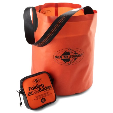 Camp and Hike Easily transport up to 10 liters of water back to your campsite with the lightweight and packable Sea To Summit Folding Bucket. - $32.95
