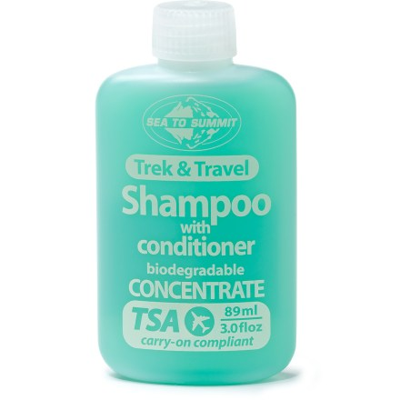 Camp and Hike Whether you're traveling around the world or spending a week in the woods, the Sea To Summit Trek and Travel Pocket shampoo with conditioner helps you keep up with your hygiene. - $4.50