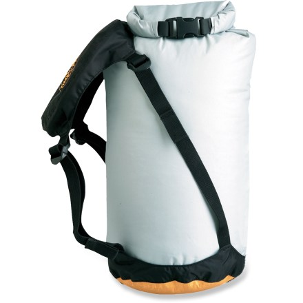 Camp and Hike This valve-free compression dry sack uses a breathable base made of eVent(TM) waterproof fabric that allows air to be pushed out, but keeps water from entering. - $29.95