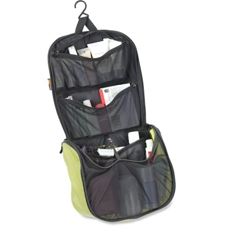 Entertainment Bring it all, except the sink, with this large Sea to Summit Travelling Light Hanging Toiletry Bag, which is made of light, water-resistant materials and offers lots of internal organization. - $39.95