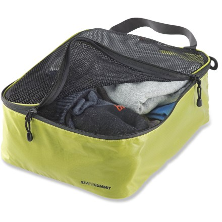 Entertainment The small Sea to Summit Garment mesh bag is great for organizing and packing underwear, socks and small garments for easy, compartmentalized packing and organization. Lightweight and water-resistant Ultra-Sil(TM) fabric made with Cordura(R) nylon yarn stands up to the rigors of travel. Breathable mesh top makes for easy viewing; bag lays flat when empty for hassle-free storage. Perimeter zippers allow full access to contents; top haul handle makes it easy to pull bag out from bottom of a pack or simply carry from point to point. - $12.93