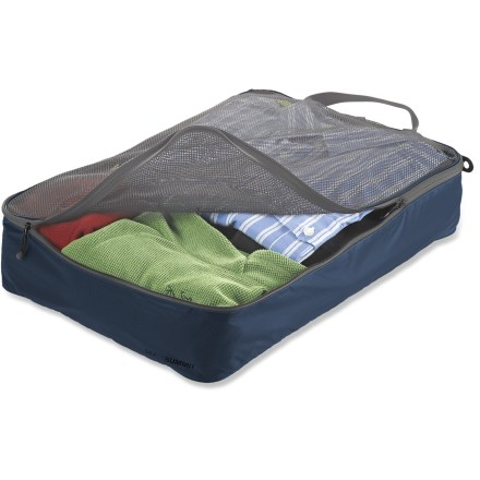 Entertainment This large Sea to Summit Garment Mesh Bag organizes shirts, sweaters or pants for simplified, compartmentalized packing, whether for overseas travel or quick weekend jaunts. - $16.93