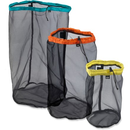 Camp and Hike Small in stature but big in strength, the Sea to Summit Ultra-Mesh Stuff Sack lets you organize your backpacking (or traveling) essentials for easy visibility and quick retrieval. - $10.93