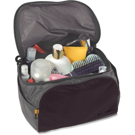 Entertainment The Sea to Summit large Travelling Light Toiletry Cell features a generous volume and padded, stand-up design. Large zippered lid opening ensures easy access. 3 internal mesh pockets facilitate organization of smaller items. Durable YKK(TM) zippers with Hypalon(TM) grab tabs provide long-lasting and secure opening and closing. Sea to Summit Travelling Light Toiletry Cell is crafted from super lightweight, strong and water-resistant Ultra-Sil(TM) fabric. - $25.93