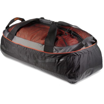 Kayak and Canoe The medium Sea to Summit Dry Mesh Duffle uses a mesh area to store wet gear, and a waterproof area to store dry gear. - $119.95