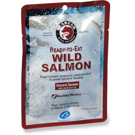Camp and Hike Pure, wild salmon and a touch of sea salt-nothing more. SeaBear Ready-To-Eat wild salmon is a special treat that's great for all occasions! - $7.00