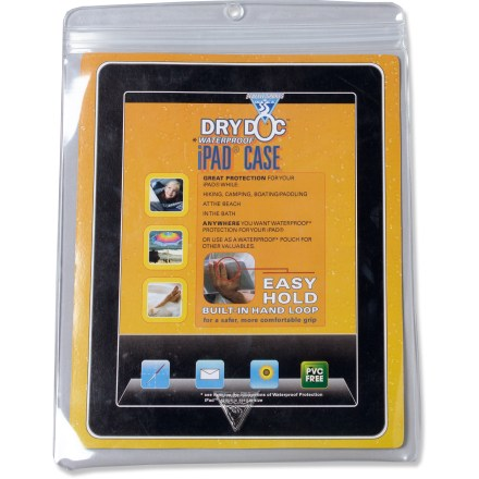 Entertainment The Seattle Sports Dry Doc iPad case helps protect your iPad tablet computer or other small valuables with PVC-free, puncture-resistant film and a waterproof, resealable closure. - $14.95
