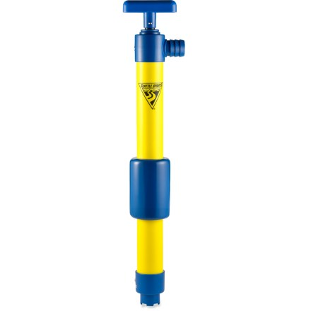 Kayak and Canoe This Seattle Sports T-handle bilge pump features an easy-grab handle and a super-strong pump shaft for moving water out of your boat quickly. Pumps a hefty 8 gal. per minute. Foam collar keeps pump afloat if accidentally dropped overboard. Special buy. - $12.73