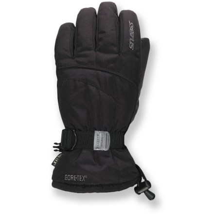 Ski Enjoy your winter outings with warm, dry hands thanks to the insulated and waterproof Seirus Phantom(TM) Gore-Tex(R) gloves. Polyester shells have Gore-Tex waterproof, breathable inserts that prevent moisture from getting inside. Synthetic fiber insulation fends of cold winter temperatures. Seirus Phantom(TM) Gore-Tex(R) gloves have PVC palms give you a good grip of ski poles. Cinch the cuff and wrists to secure the fit and keep cold air out. - $55.00