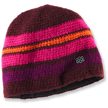 Entertainment Hand knit in Nepal, the bright and colorful Sherpa Adventure Gear Kunga beanie combines modern style with traditional techniques. - $11.83
