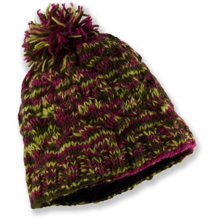 Entertainment The Sherpa Chuki Beanie mixes bold colors with warm wool to create a look that will surely liven up your winter wardrobe. Wool insulates efficiently and breathes to regulate temperature for outstanding comfort in wide-ranging conditions. Sherpa Chuki Beanie has a soft microfleece earband lining for added warmth and comfort. - $12.83
