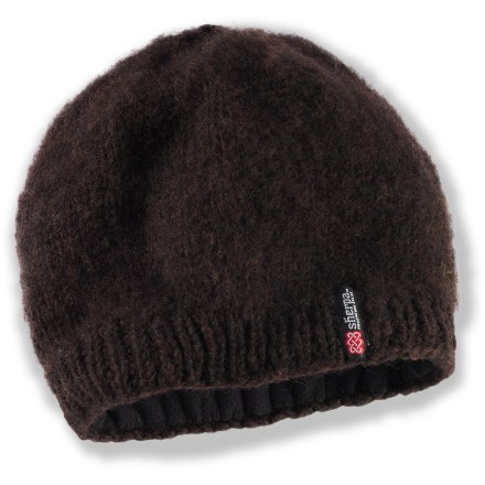Entertainment Add a simple splash of color to your outfit with the Sherpa Nagi hat. 100% wool exterior is lined with soft polyester fleece for comfort next to skin. - $11.83