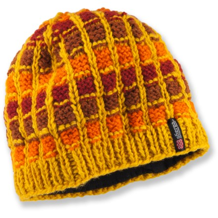 Entertainment The Sherpa Phortse hat combines a grid-knit pattern and bright colors for a delightfully old-school look. 100% wool exterior is lined with soft polyester fleece for comfort next to skin. - $11.83