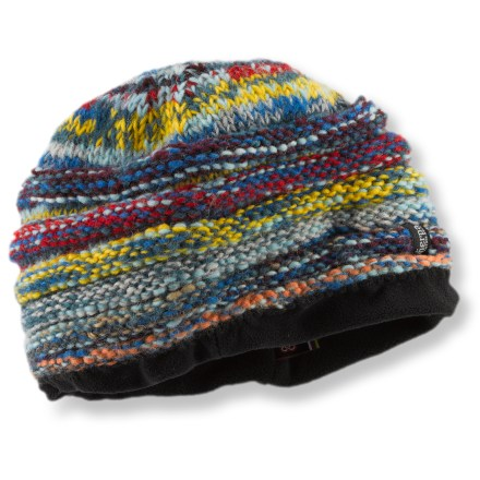 Entertainment Constructed with the yarn that remains from other Sherpa hats, the Rimjhim hat is a unique piece of wearable art. Textured wool exterior is lined with soft polyester fleece for comfort next to skin. - $16.93