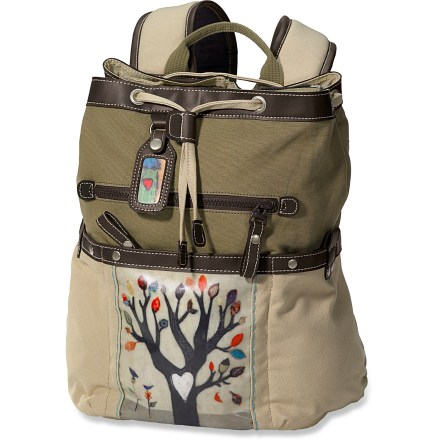 Camp and Hike Sherpani Sonoma daypack features an original art print by artist Cathy Nichols and a lightly embossed lining to enhance the canvas exterior. External I.D.tag has matching artwork. - $32.83