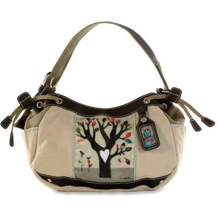 Entertainment The Ivy handbag from Sherpani features original prints by artist Cathy Nichols and a lightly embossed lining to enhance the canvas exterior. External I.D.tag has matching artwork. - $32.83