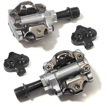 MTB The Shimano M540 SPD bike pedals feature an open pattern that helps shed mud for worry-free riding. - $70.00