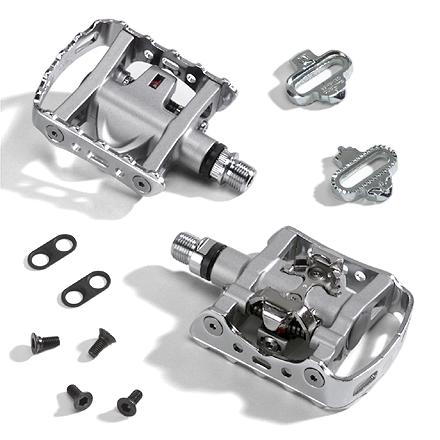 MTB These SPD pedals feature an expanded platform so you can ride in any shoes; great for people who have 1 bike they use for everything. - $60.00