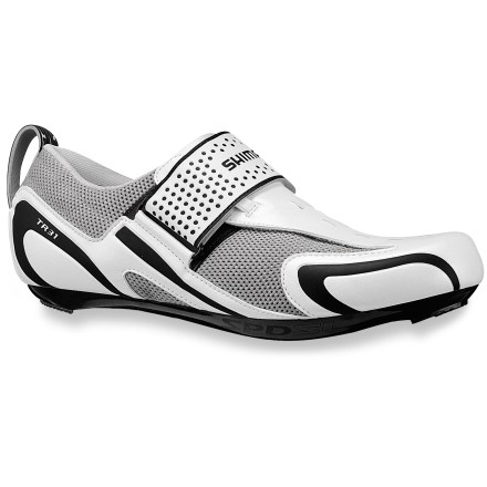 Fitness Because dedicated triathletes need bike shoes that won't slow them down, they strap on the Shimano TR31! - $69.83