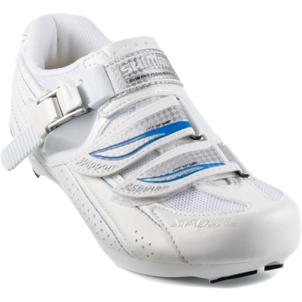 Fitness These women's Shimano WR41 performance road bike shoes feature stability, rigidity and light weight for training and all-around road riding. - $28.83