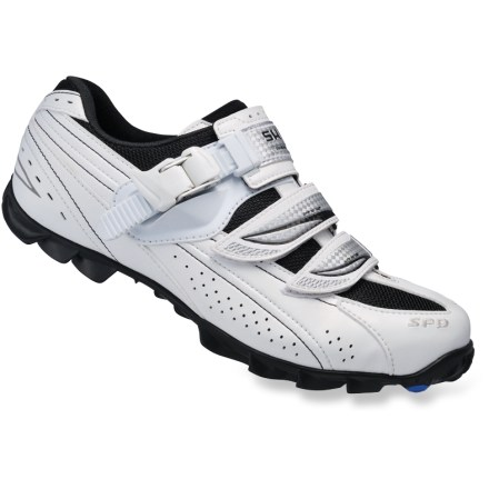 MTB Built for the weekend cyclo-cross racer, Shimano WM62 women's mountain bike shoes offer rigid pedal support and excellent traction for hucking bikes over muddy, rocky and log-strewn trails. - $57.83