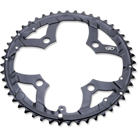 Fitness This Shimano Deore M530 outer chainring replaces your old or damaged Shimano 9-speed chainring and features 48-tooth, ramped and pinned construction for precise shifting performance. - $26.93