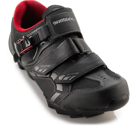 MTB Climbing over logs or hopping curbs, the Shimano M088 MTB bike shoe are stable, rigid and lightweight, details that mountain bike riders, commuters and even touring cyclists alike will appreciate. - $59.83