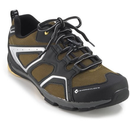 MTB The Shimano Click'R CT4o bike shoes feature a solid platform for cycling as well as a great walking design. Shoes are great for beginning bike commuters and those new to cycling with clipless pedals. - $44.83