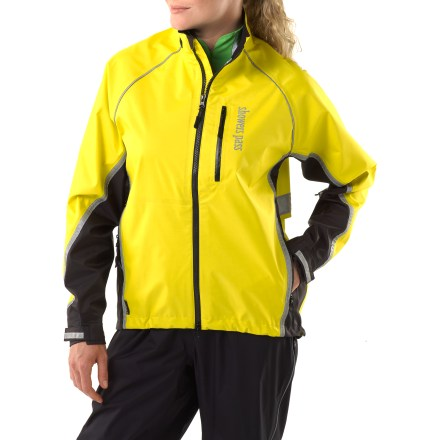 Fitness Built to be worn over street clothes, the Showers Pass Transit bike jacket provides waterproof and breathable protection for your daily commute. - $79.83