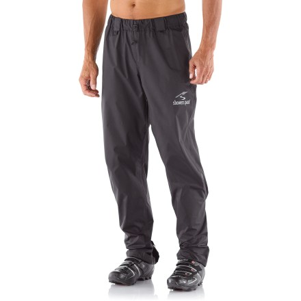 Fitness The Showers Pass Storm pants let you be prepared without breaking the bank. Toss this fully waterproof emergency piece in your pack or pannier for unexpected storms. - $65.00