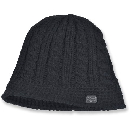 Entertainment The lightweight Shred Alert Treasure beanie has a slight bell shape for an attractive look on winter outings. Hat is knitted with silky acrylic mohair yarn for great comfort. 1 size fits most. - $14.83