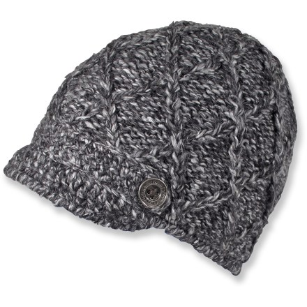 Entertainment Don't let the cute style fool you, the Jetty beanie from Shred Alert is guaranteed to keep you warm. 100% silky acrylic mohair Jetty beanie has the perfect little brim and a full microfleece liner for soft, wicking comfort. Detailed with 2 metal logo buttons. - $34.00
