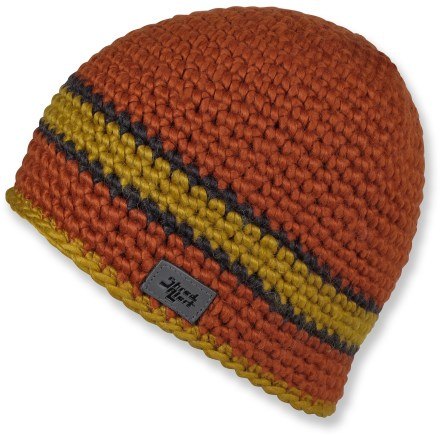 Entertainment Spend a winter day wandering through snowy streets with the Shred Alert Moss beanie. Hand-crocheted chunky exterior has a soft microfleece earband liner for itch-free warmth and comfort. - $21.93