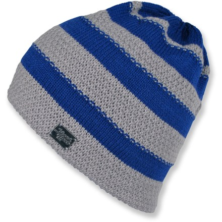 Entertainment Pull on your Shred Alert Glacier beanie, grab your skis and get out there! Acrylic knit with textured stripes give the hat great warmth and style. - $14.83