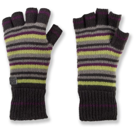 Surf The fingerless Shred Alert Fable gloves keep your fingers free for operating zippers or using a touch-screen cell phone to send text messages and surf the web. Soft acrylic fabric is comfortable next to skin. - $15.83
