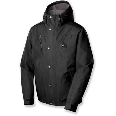 The Sierra Designs Grand C parka offers rugged versatility for around-town use. With a pleasing design and lots of pockets, it ensures you're dialed for urban adventuring. Comfortable, casual and durable cotton/nylon fabric; exterior surface is treated with both a polyurethane coating and a Durable Water Repellent finish to resist water and wind. Silky taffeta lining slides easily over clothing and enhances comfort and warmth. Adjustable hood with visor and drawcord. Sierra Designs Grand C parka features 3 snap-close pockets, 1 exterior zip pocket and 1 internal zip pocket. Full-length front zipper with exterior snap-down draft flap. Metal-tooth zippers. Rip-and-stick adjustable cuffs. Please note: seams are not sealed. - $69.83