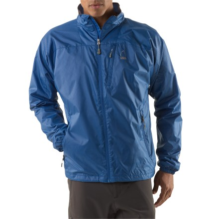 Camp and Hike Whether travelling, hiking or hanging around town, the Sierra Designs Microlight Accelerator jacket is a perfect layering piece. Lightweight polyester fabric features a Durable Water Repellent finish for protection in light weather. Polyester tricot lining moves moisture away from the skin and disperses it. Brushed tricot chin guard is soft against delicate skin. Elastic cuffs seal in the warmth. The Sierra Designs Microlight Accelerator jacket features 2 zippered hand pockets and a zippered chest pocket. Includes a reversible stuff sack that can be used as a pillow when stuffed. Closeout. - $35.83
