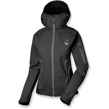 Snowboard The Sierra Designs Sonic Outlaw jacket may not let you zip down the slope at the speed of sound, but it will keep you plenty warm and dry. Made of activated carbon from coconut shells, Cocona(R) fibers are fused into polyester to boost warmth and resist moisture and odors. Waterproof breathable laminate with fully sealed seams ensures weather stays outside. Exposed seam tape seals out water and provides stylish accents. Helmet-compatible hood with visor keeps snowflakes out of your eyes. Removable powder skirt keeps spindrift out. Pockets abound-2 zippered hand pockets, 1 zippered sleeve pocket, 1 zippered interior pocket and 1 dump pocket. All zippers are waterproof, so your gear stays dry. Sierra Designs Sonic Outlaw jacket features an adjustable hem and cuffs to seal in warmth. Closeout. - $179.93